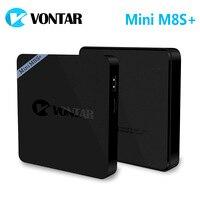5 pcs [véritable] VONTAR Mini M8S + 2G/8G Amlogic S905X Android 6.0 Quad TV Box 2.4G WiFi BT4.0 H.265 4 K MiniM8S Plus