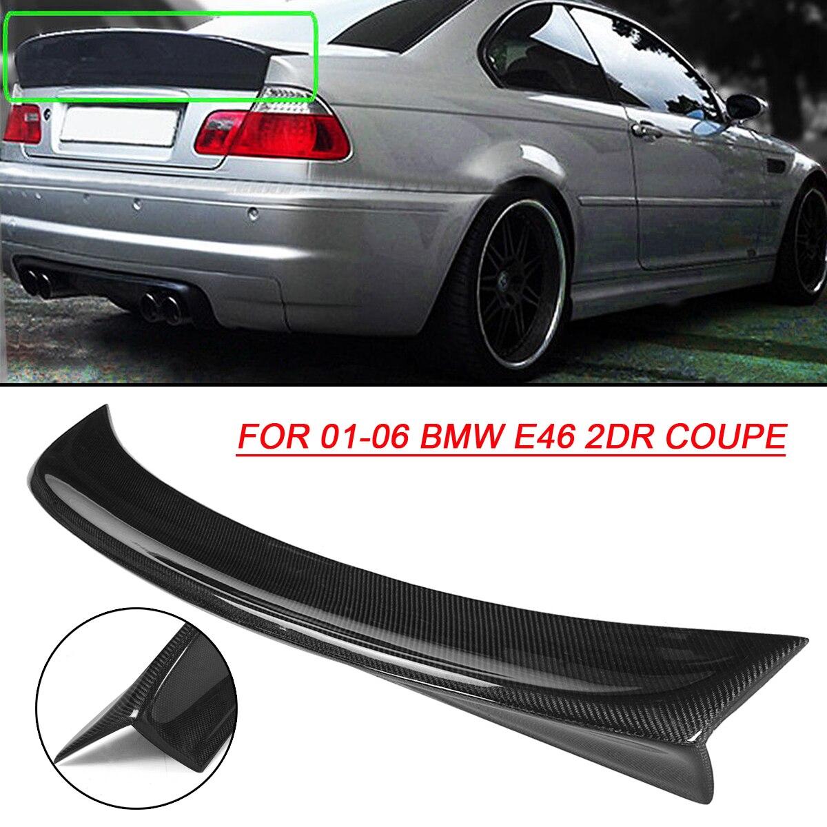 CSL Style Ornitorinco Nero Posteriore In Fibra di Carbonio Cofano del Bagagliaio Posteriore Spoiler Ala per BMW 2001-2006 E46 2DR Auto