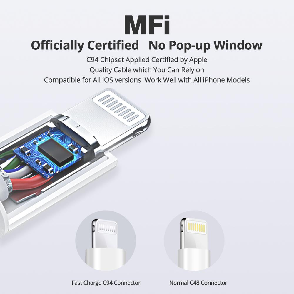 Image 3 - iSky MFi Type C to Lighting Cable for iPhone 11 X 8 7 6 5 XR XsMax Pro PD Fast Charge C94 MFi Certified Data Sync for Macbook-in Mobile Phone Cables from Cellphones & Telecommunications