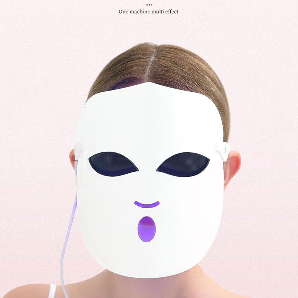 3 couleurs LED masque de visage thérapie beauté du visage masque de soins de la peau appareil de beauté photonique domestique