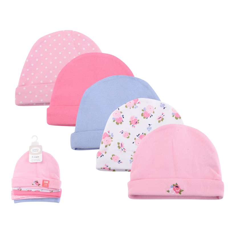 5 Piecelot Baby Hat 2017 NEW 100% Cotton Baby Cap infant Cap Cotton Infant Hats Caps Toddler Boys & Girls Gift