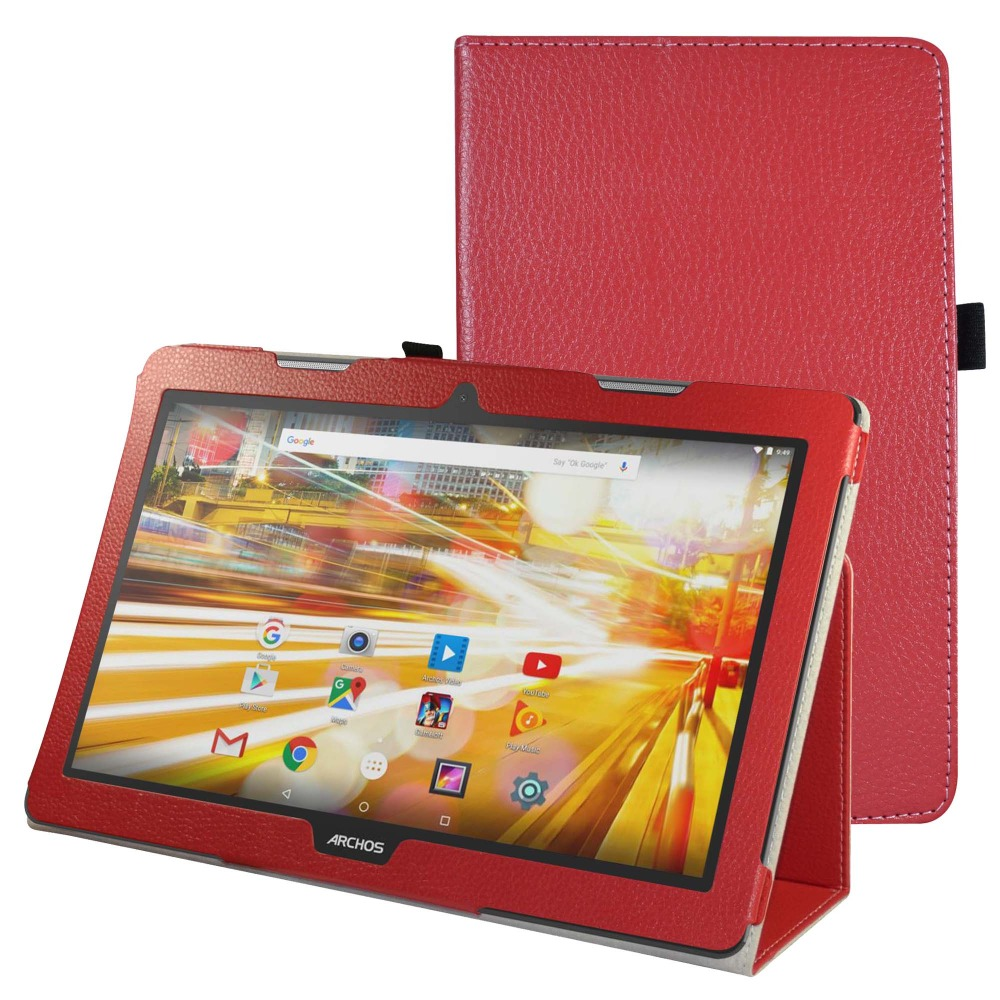 Case Mama Mouth PU Leather Folio 2-folding Stand Cover with Stylus Holder for 13.3