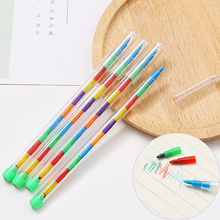 4 Pcs Kawaii DIY Replaceable Crayons Oil Pastel Colored Graffiti Pen for Painting Drawing Pen Art Supply 10/20 Colors Available