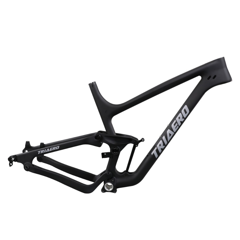 ICAN High Quality Full Suspension Frame Carbon Fiber Mountain Frames 27.5er Plus Mtb Bike Frame BSA Rear 148X12 Boost UD Matte