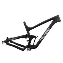 2016 high quality full suspension frame carbon fiber 650B mountain frames 27.5er  mtb bike frame UD matt thru axle compatiable цена