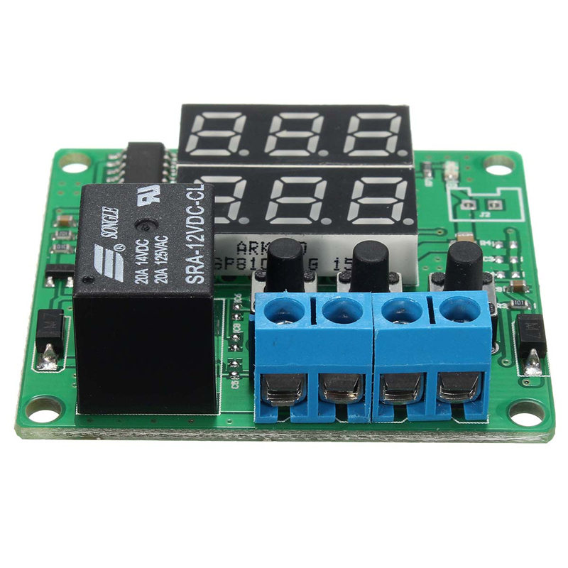Hot DC 12V Timing Delay Time Timer Relay Module Digital LED Cycle Clock Controller Best Price Led DIY Detection Modules Board 1pc multifunction self lock relay dc 5v plc cycle timer module delay time relay