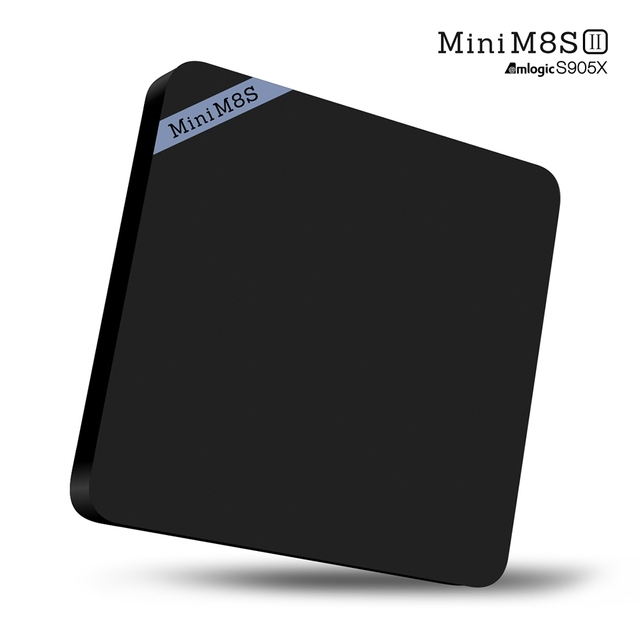 Mini M8S II 4 K Smart TV Caja 1 GB 8 GB Amlogic S905X Quad Core 64Bit Android 6.0 Smart Set Top Box VP9 H.265 Decodificación Multimedia jugador