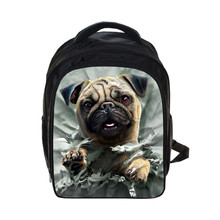 Cute Pet Dog Print Children School Bags Cartoon Bulldog / Rottweiler Kindergarten Backpack Animal Schoolbags Kids Gift Book Bag