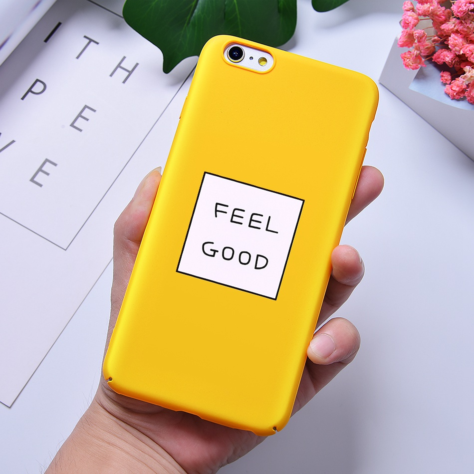 TOMKAS Funny Slogan Phone Case for iPhone 6 6S 7 8 Plus Case for iPhone X 6 S Yellow Back Cover Case for iPhone 7 Plus Coque (9)