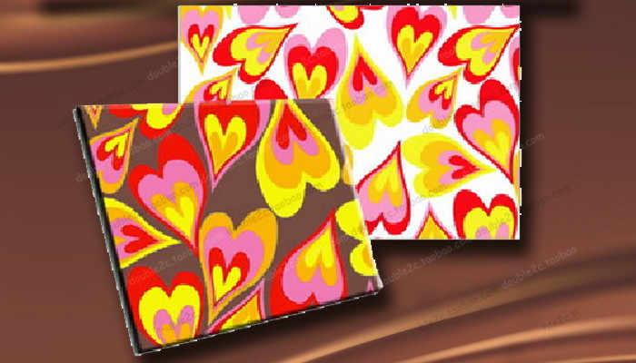 Hojas de transmisi/ón de chocolate Transferencia de 10pcs Multi-Pattern Papel de transferencia de alimentos Chocolate Chocolate Transfer Papel Horneado DIY Hoja de transferencia Color : As Show