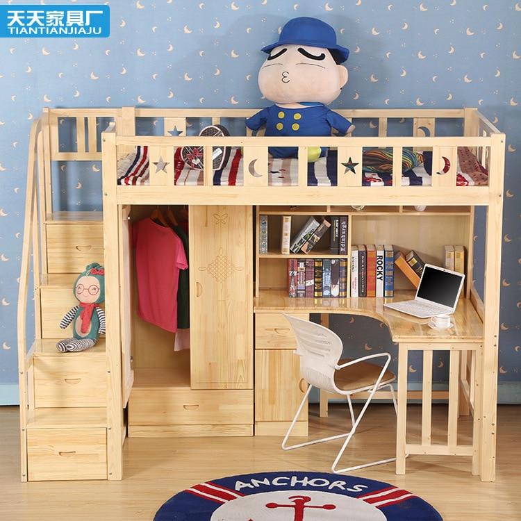 Special offer shipping children crib desk sets wood bed - Fabrica de literas ...