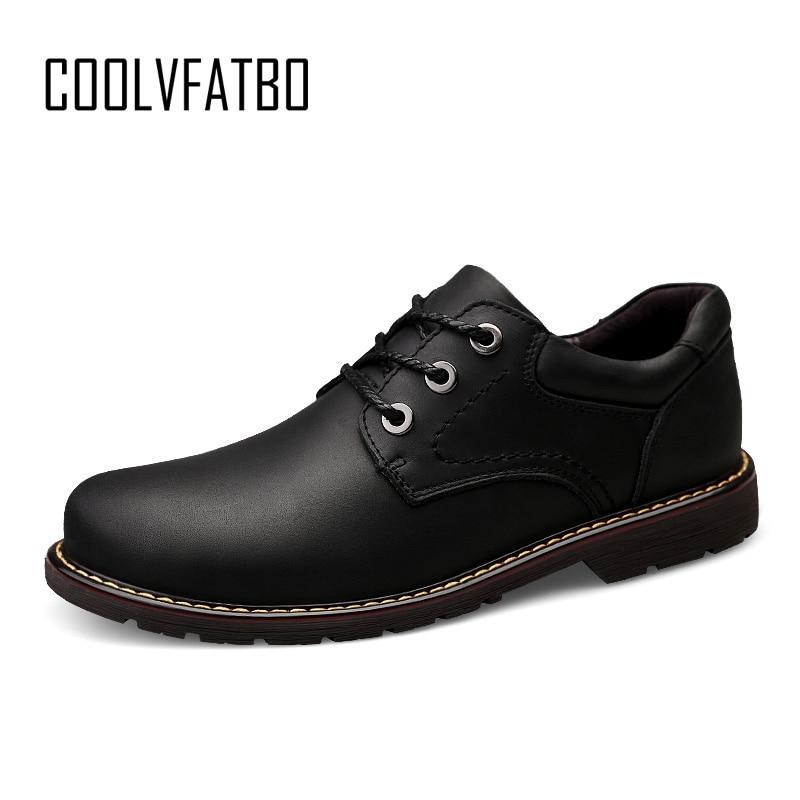COOLVFATBO Casual Quality Genuine Leather Boots Men Black Mens Boots Men Dr Martins Men Shoes Work Safety Shoes Plus Size38-47 amaginmni men genuine leather casual shoes leather brand men shoes work safety boots designer men flats men work