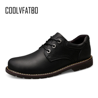 COOLVFATBO Casual Quality Genuine Leather Boots Men Black Mens Boots Men Dr Martins Men Shoes Work Safety Shoes Plus Size38 47