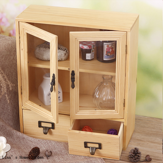 Aliexpress.com : Buy Cute Beautiful Handmade Tabletop Standing Vintage Wood  Mini Cabinet With Doors Drawers From Reliable Cabinet With Drawers  Suppliers On ...