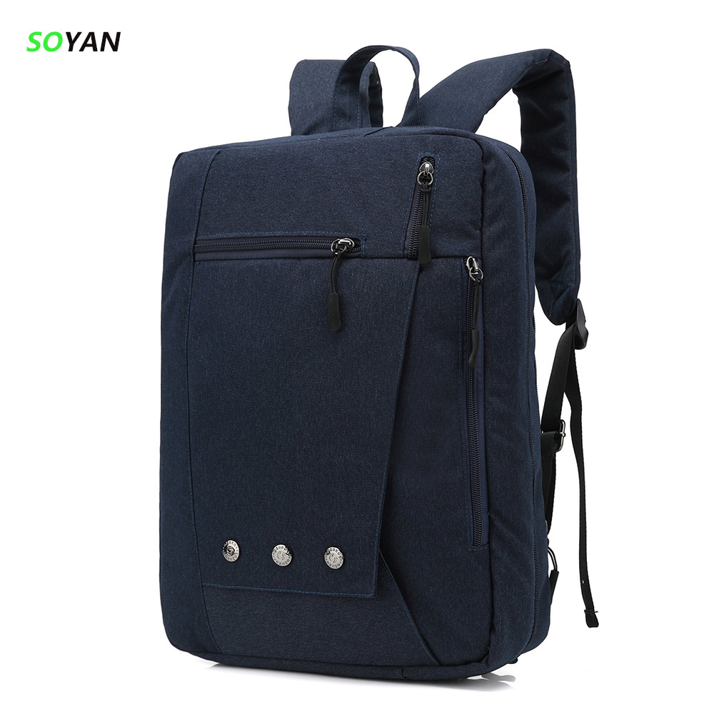 Laptop Backpack Male Leisure Travel women Student School Bags 2 use Style shoulder or portable laptop bag Mens Backpacks 2colors 2017 new masked rider laptop backpack bags cosplay animg kamen rider shoulders school student bag travel men and women backpacks