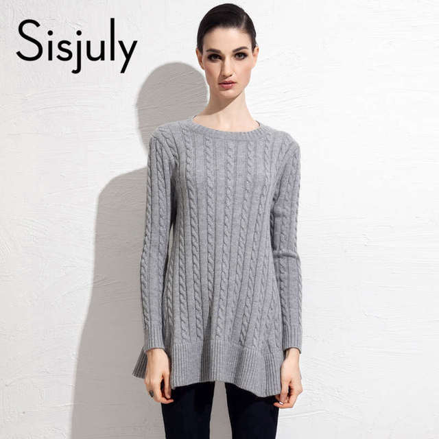 Sisjuly camisola das mulheres outono inverno manga comprida knitting cardigan casual tamanho solto sólida moda camisola das mulheres cardigan