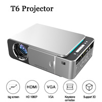 T6 Portable LED Projector 4K 3500 Lumens 1080P HD Video Projector USB HDMI Beamer for Home Cinema Optional Android 7.1 Projector