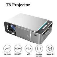 T6 projecteur à LED portable 4K 3500 Lumens 1080P HD vidéoprojecteur USB HDMI projecteur pour Home Cinema en option Android 7.1 projecteur