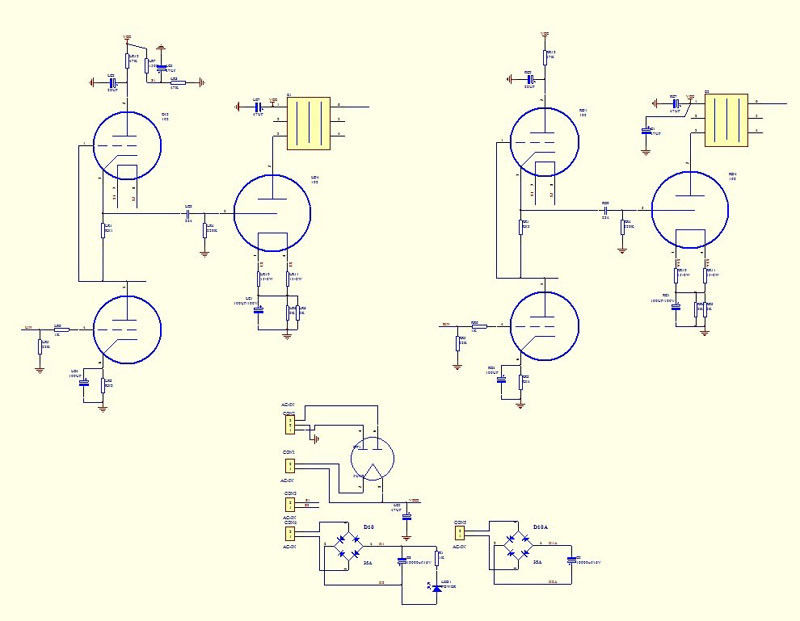 Single Ended Stereo Tube Amp Schematic