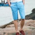 Плюс Размер 5XL Летние мужские Шорты 100% Хлопок Пляж Шорты Сплошной Цвет Бермуды Masculina 9 Цветов Бесплатная Доставка MDK084