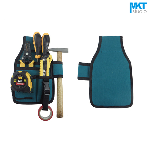 1Pcs Blue 24.5x19.5cm Oxford Cloth Durable Waterproof Tools Container Storage Waist Bag,Electrical Tools Bag
