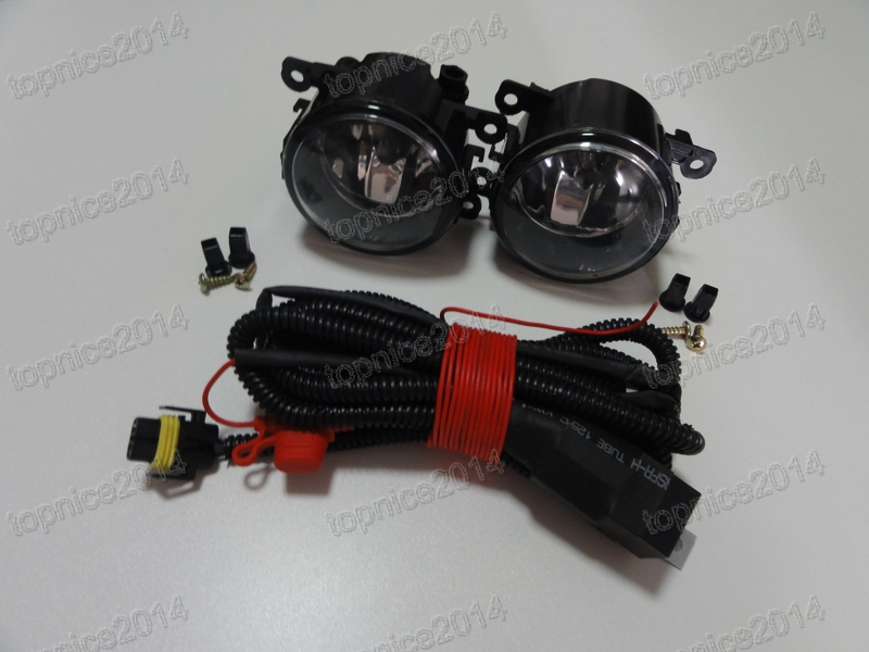 1Set Clear Car Styling Bumper Driving Fog Lights Lamps With Wiring Harness Kits For Ford Mustang Focus Fiesta C-Max