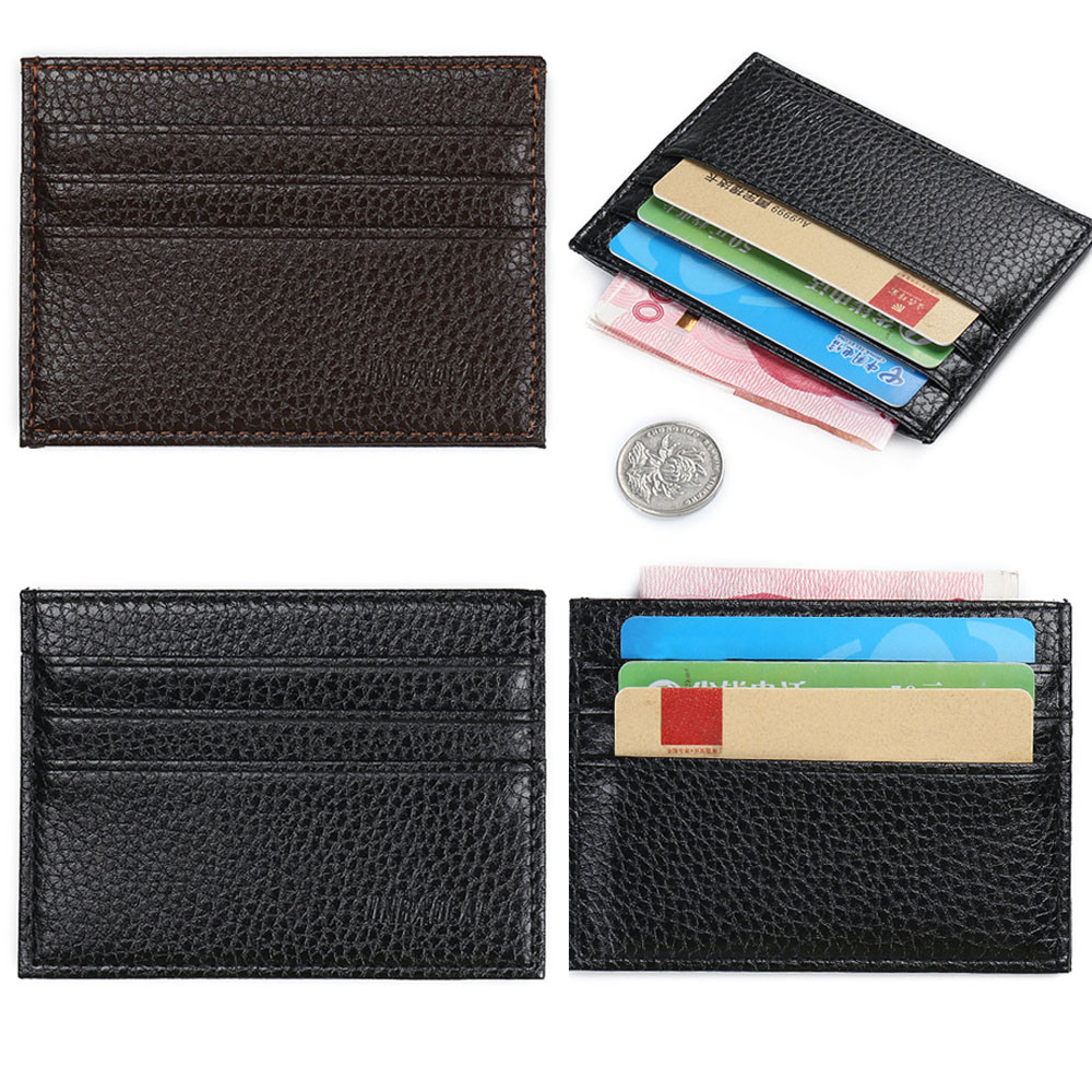Card Holder Mens Luxury Retro Men Leather Business Clutch Billfold Wallet Credit ID Card MenSlim Purse Dropshipping #A30