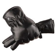 Men's Real Leather Gloves Winter Gloves Leather Trendy Sheepskin Gentmen Luvas Guantes Mujer Winter New 2016 Thicken Glove