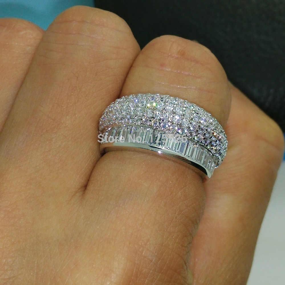 Victoria Wieck อินเทรนด์เครื่องประดับพราวเจ้าหญิงตัด AAA CZ หินจำลอง 10kt Gold Filled แหวนชุดของขวัญขนาด 6-9