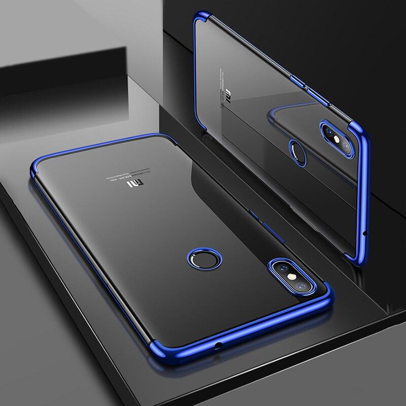 Xiaomi Redmi S2 Case Cover Luxury Transparent Soft Silicone Silm Plating TPU Edge Back Cover For Xiaomi Redmis2 Cases Phone Case