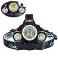Head Flashlight Zoomable Headlamp Rechargeable Led Headlight To Climb Camp Head Torch 3x CREE XM-L L2 Head Lamp with USB Charger