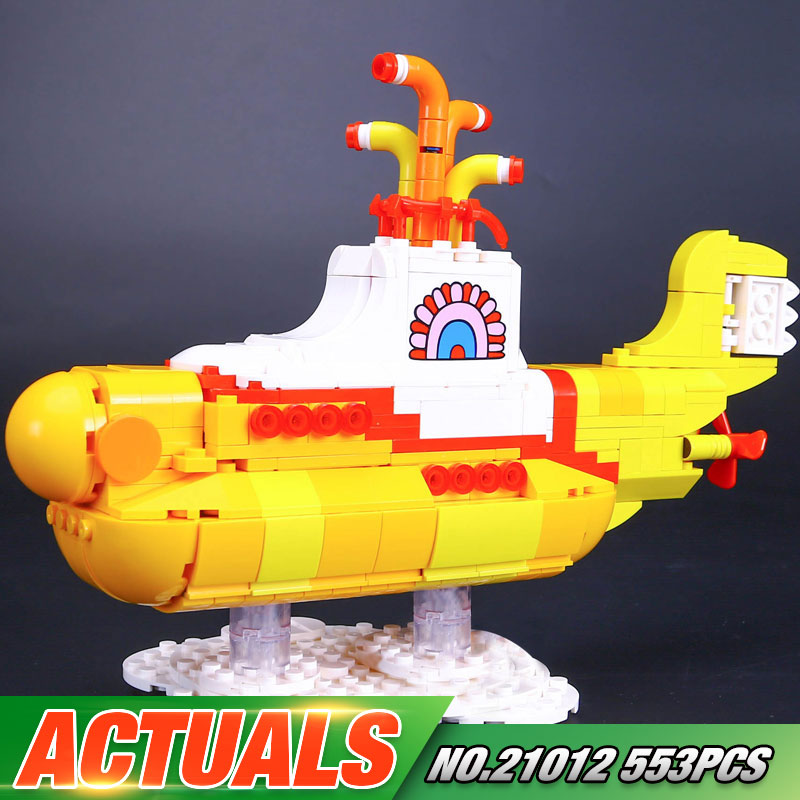 Lepin 21012 New 533Pcs Movie Series The beautiful submarine Set 21306 Building Blocks Bricks Toys Model For Kids Birthday Gifts 12 style one piece diamond building blocks going merry thousand sunny nine snakes submarine model toys diy mini bricks gifts