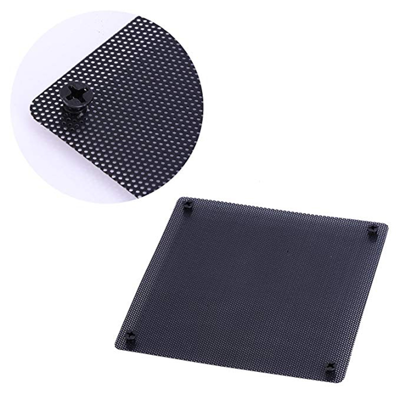 Image 3 - 120 mm Dust Filter Computer Fan Filter Cooler PVC Black Dustproof Case Cover Computer Mesh 10 Packs with 40 Pieces of Screws-in Fans & Cooling from Computer & Office
