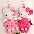 2016 Crianças De Pelúcia Kawaii Colorido Olá kitty Mochila Escolar Das Meninas Do Bebê Crianças Brinquedos de Pelúcia Bonito Sacos de 4 Estilos Frete Grátis
