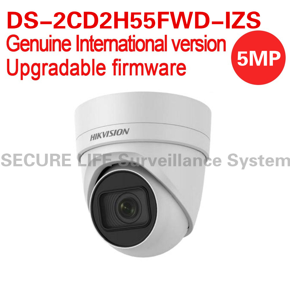 Free shipping English version DS-2CD2H55FWD-IZS 5MP turret cctv security camera behavior analyses WDR VF lens IP67 IK10 H.265+ international english version ds 2cd2h85fwd izs 8mp network turret ip cctv camera behavior analyses wdr vf lens ip67 ik10 h 265