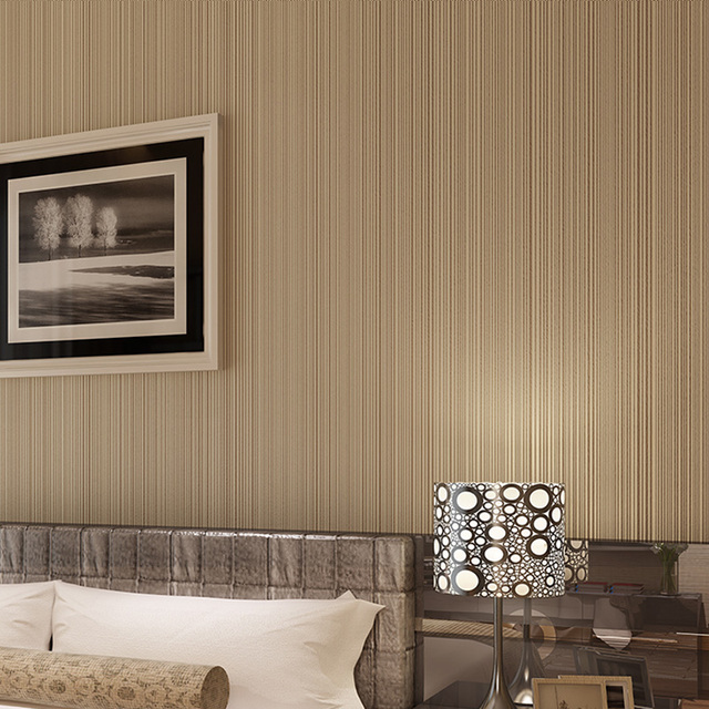 papel pintado a rayas marrn de rayas verticales pintados modernos pared rollo de papel para paredes