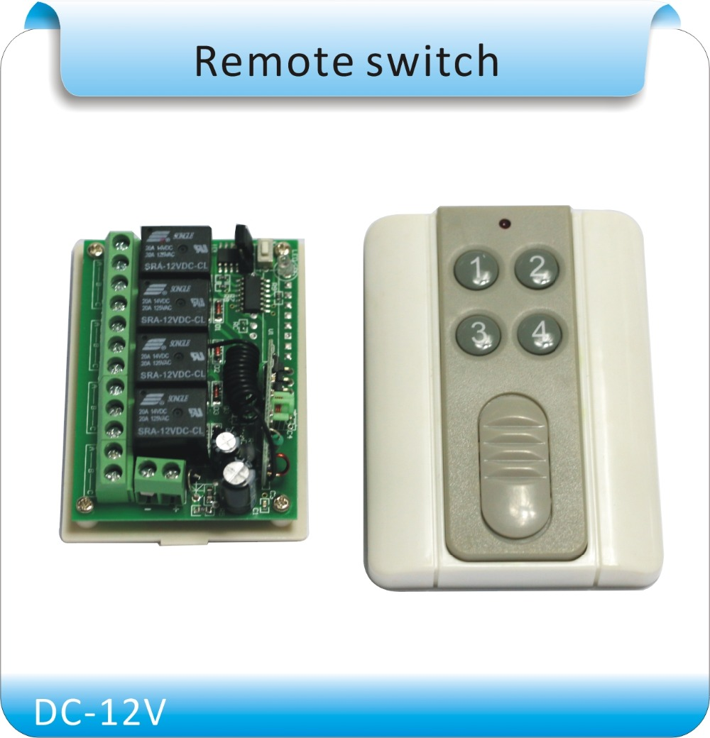 Free shipping DC12V 1 to 4 wireless remote output access control system NC/NO information недорго, оригинальная цена