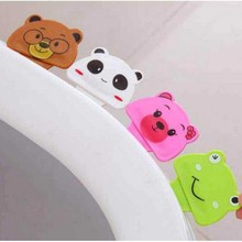 Toilet Lid Seat Cover Lifter Creative Cute Cartoon Clean Portable Handle Flip Uncover Bathroom Products