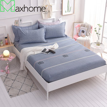 100% Cotton Fitted Sheet Bed Mattress Cover Bed Cover with Elastic Band Machine Washable Bed Protection Pad Mattress Protector