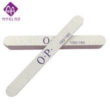 5PCS/lot polishing strip 100/180 long straight nail file customized printed nail art file manicure tools