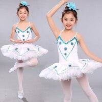 New Sequin Tutu White Swan Lake Ballet Costume Girls Ballerina Dress Kids Dance Classique Balet Girls Ballet Tutu