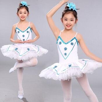 29e8b88c7 Nuevo tutú de lentejuelas blanco Cisne lago Ballet disfraz niñas bailarina  vestido niños danza Classique Balet niñas Ballet tutú
