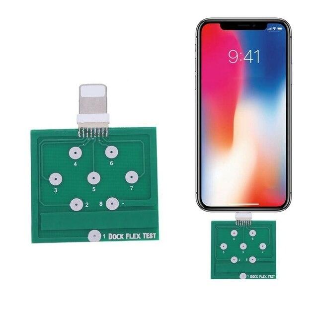 Herramientas de reparación de la prueba flexible del muelle de carga de la batería del teléfono móvil para iPhone 8 8 plus 7 6 6 s Plus para prueba de Micro teléfono Android