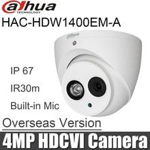 Dahua HAC-HDW1400EM-A 4MP HDCVI IR Augapfel Analog Kamera 4MP IR 50 m wasserdichte Eingebaute Mic HAC-HDW1400EMP-A CCTV Kamera