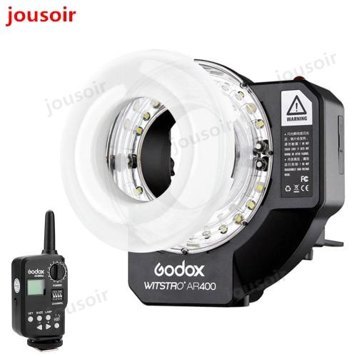 Godox Witstro AR400 400W Li ion Battery Ring Flash Speedlite + LED Video Light+FT 16 CD30 2Y|Photo Studio Accessories| |  - title=