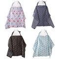 4 de Algodón de Color Cubierta de La Lactancia Materna Enfermería Cubiertas Mantón de Enfermería Lactancia Covers Flor Impreso Fundas para Alimentar al Bebé