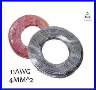 20 meters/roll 1x4mm ^ 2 cabo solar com jaqueta XLPE, 4mm2 cabo solar para MC4 conector solar, cabo 12AWG PV com TUV aprovação.