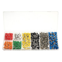 800Pcs Copper Insulated Cord Pin End Crimp Terminal Electrical Wire Connector 20 10 KWG Set