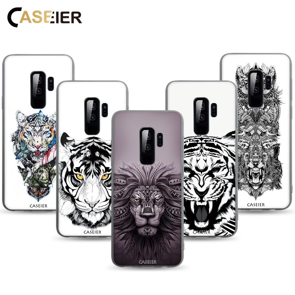 CASEIER Matagal Caso Tatuagem Para Samsung Galaxy A8 A7 A6 2018 S9 S8 Plus S6 S7 Borda J3 J5 J7 2017 Animal Modelado TPU Casos Suaves