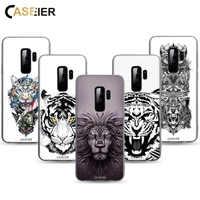 CASEIER Peeling Tattoo-Fall Für Samsung Galaxy A8 A7 A6 2018 S9 S8 Plus S6 S7 Rand J3 J5 J7 2017 tier Gemusterte TPU Weichen Fällen